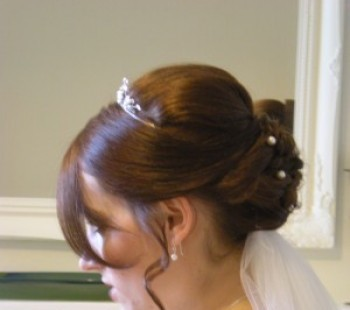 Bridal Hair Low Loop Bun