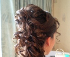 Bridal Hair Side Curly