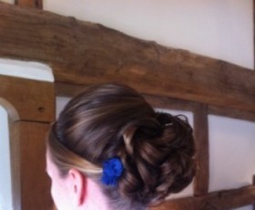 Bridesmaid Hair Low Bun with Pleat
