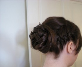 Bridesmaid Hair Up with Pleat